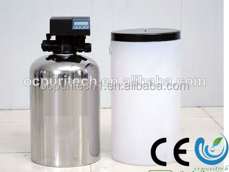 SUS or FRP tank small Water softener for water pretreatment system with PVC motorized valve