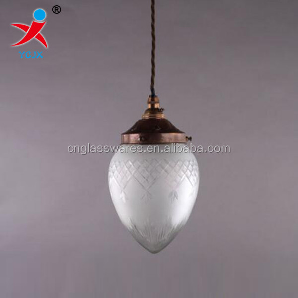 peach shape frosted glass pendant ceiling lamp shade