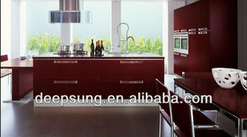 European kitchen cabinet design lacquer