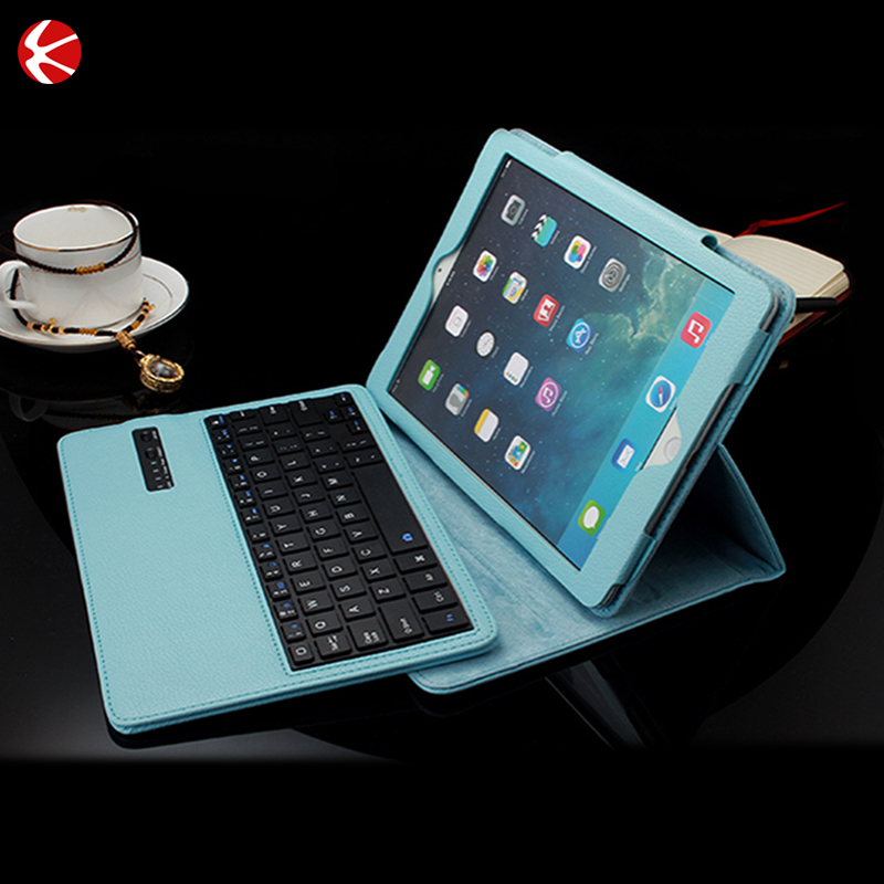 New Wireless Bluetooth Keyboard Folio PU Leather Case Cover Magnetic Smart Stand case for iPad mini
