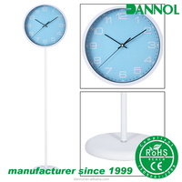 Trendy Color Design Quartz Metal Classic Floor Clock