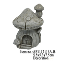 Mini Mushroom House Resin Craft Garden Ornament
