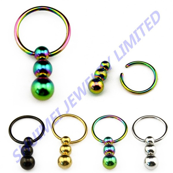 316L Surgical Steel Nose Ring & Labret Lip & Earring Stud & Navel Belly Piercing Body Jewelry 16G