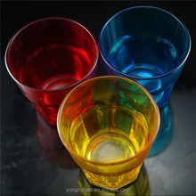 Custom sprayed color water glass/drinking glass vodka,colorful safety glass