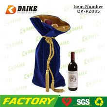 High Quality Customized Durable velvet wine bottle bag DK-PZ085