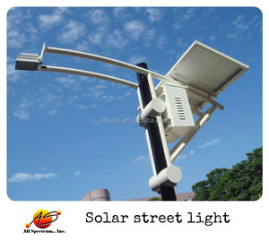 Taiwan 6M pole 30W LED solar lamp for street lighting projects
