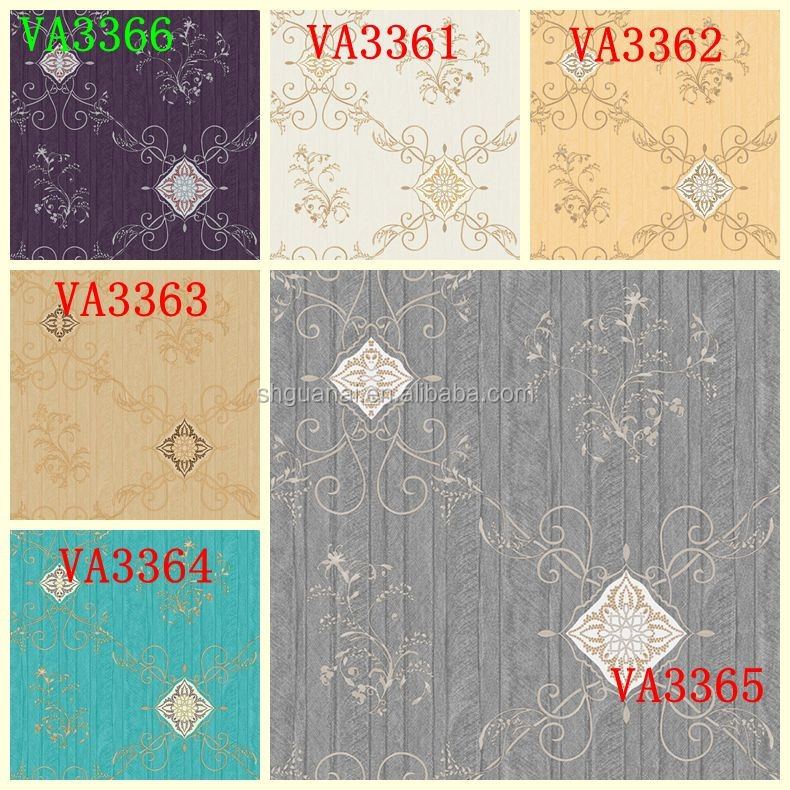 2017 Golove New style cheap price deep embossed pvc wallpaper