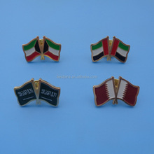 Kuwait national day badge, UAE national Day items, Saudi Arabia national flag metal pin badge with butterfly clasp