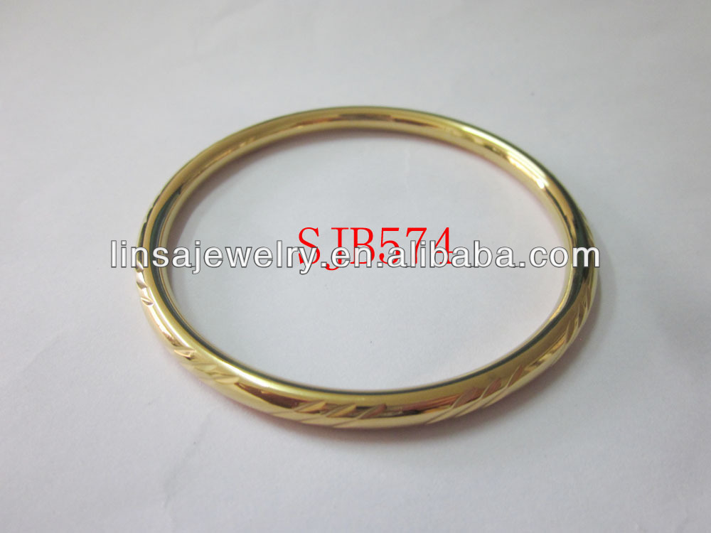 HOT Sale Fashion Carved Bangle Golden Stainless Steel Hollow Bangle