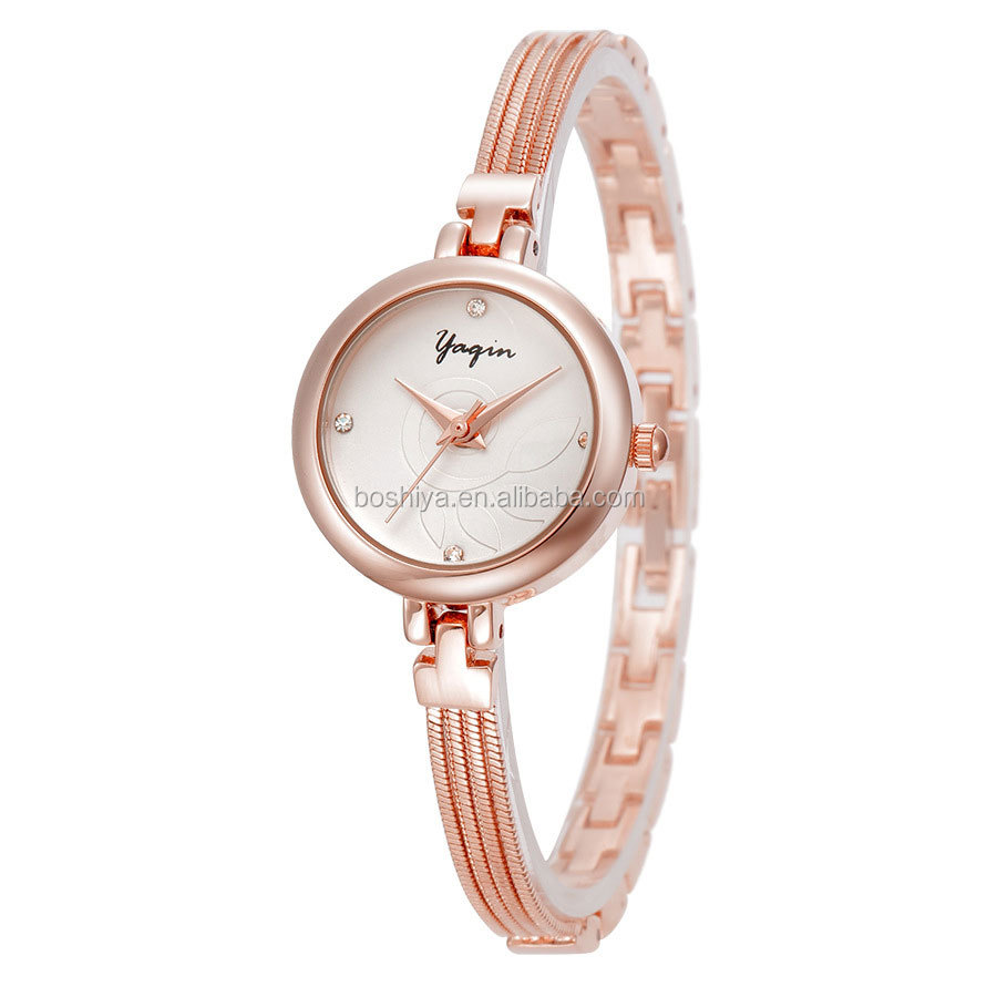 Designer Watches Women Rose Gold Fancy Ladies Bracelet Dress 30M Waterproof China supplier 7232