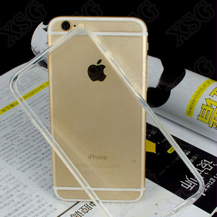 Ultra-thin for iphone 6 clear case 4.7 gel transparent TPU cell phone case for iphone7