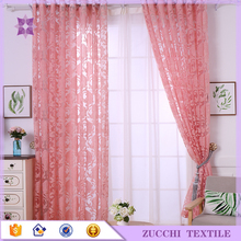 Pink Clipped Sheer Yarn Curtain Fabric Manufacturer Price Cheap Sell
