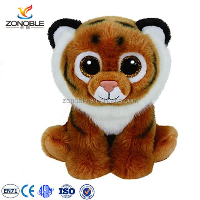 Factory OEM big eyes tiger plush animal toy for kids custom stuffed plush toy tiger