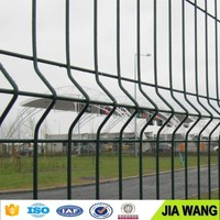 powder coated welded curved wire fence/3D wire mesh fence