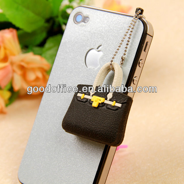 wholesale cheap classic fashion bag earphone dust plug