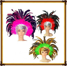 (DX-JQ-0460)SEQUINED CARNIVAL INDIAN FEATHER HEADDRESS