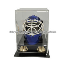 Acrylic Display Case Display Stand for Hockey Helmets Acrylic Mini Hockey Helmets Display Case