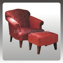 best selling fashionable fabric chair with ottoman
