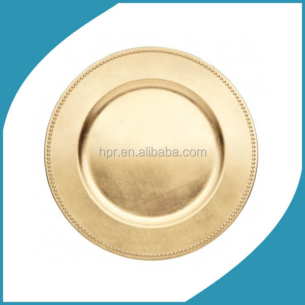 china cheap wholesale gold silver charger plates for wedding decorative glass plates