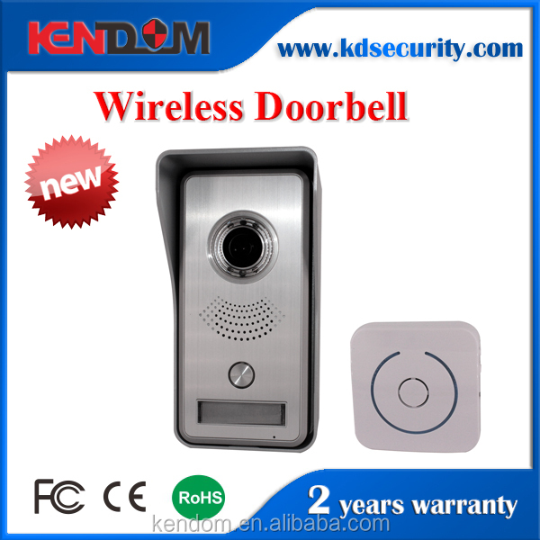 Kendom Factory Price Wifi IP HD Digital Camera Door bell Support APP Control Intercom Security P2P IR Video Surveillance