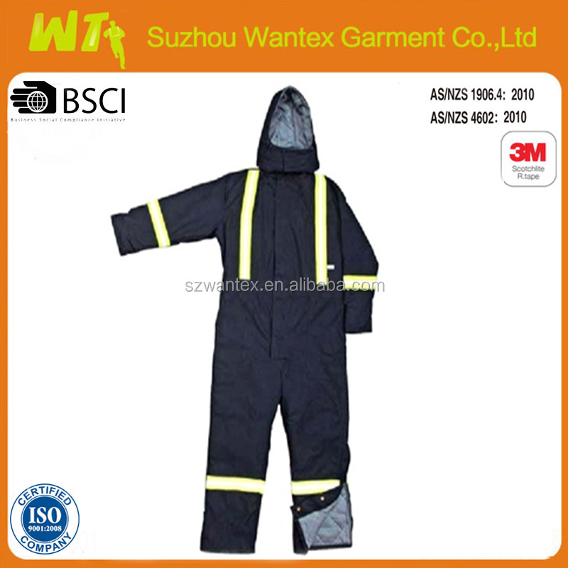 high quality mens reflective tape waterproof winter coveralls for men