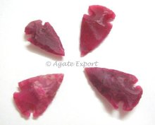 Ruby Dyed Colorful Small Arrowheads.