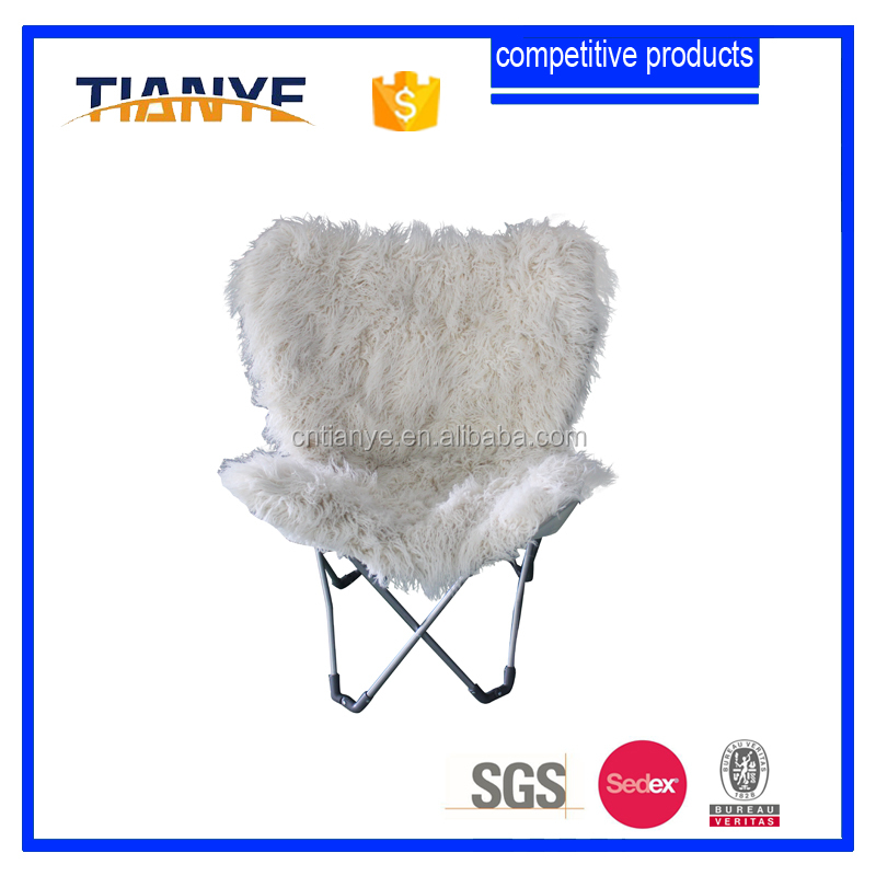 metal frame folding portable indoor butterfly chair