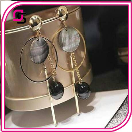 2017 big round new style ladies fashion ear rings