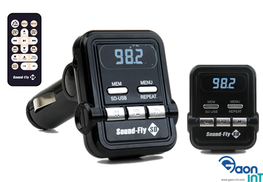 wireless FM transmitter / RDS FM Transmitter / Car MP3 Player / RDS FMT / Supports USB and SD card / Sound fly SD