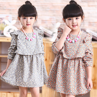Kids Wear China Child Girls Long Sleeve Floral Kids Clothes Wholesale Frock Design For Baby Girl