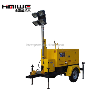 Hot sale !!! 4pcs or 6pcs lights emergency generator mobile lighting tower with 20kw diesel generator