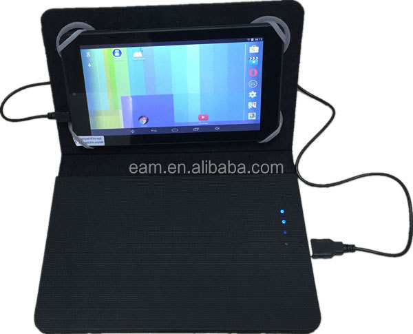 Universal tablet cover with built in battery 12000mah for mini ipad,ipad, other tablet