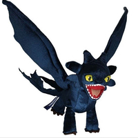 How To Train Your Dragon Night Fury Toothless Plush Toy Doll Stuffed Dragon