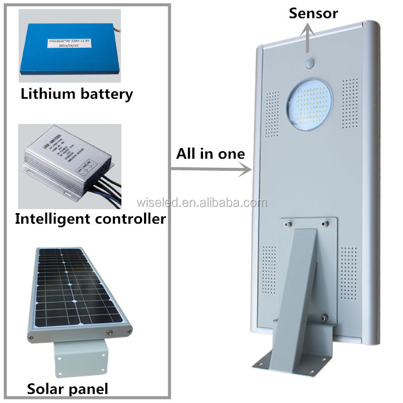 good price smart time control 20w solar power street light with detected sensor