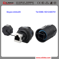 dustproof and waterproof plastic cat5 rj45 female connector