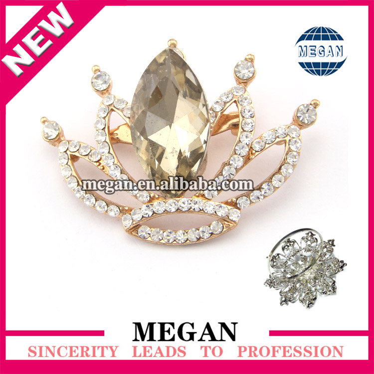 crystal diamond gold metal bulk wholesale crown napkin ring