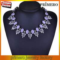 High Quality Fashion Luxury Leaf Statement Necklaces Crystal Jewellery