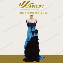 Romantic dating spaghetti strap backless bowknot tiered african dinner dresses