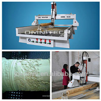 China multicam cnc router with rotery device
