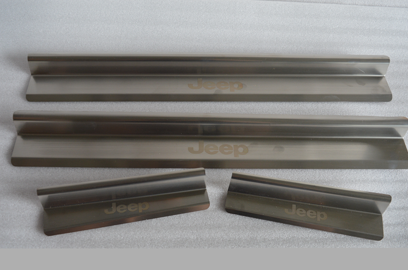 Chromed Stainless steel Jeep door sill plate side step for wrangler jk