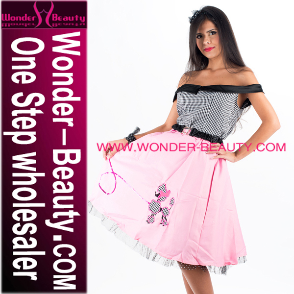 High Quality Pink Maid Costume Dress for Women