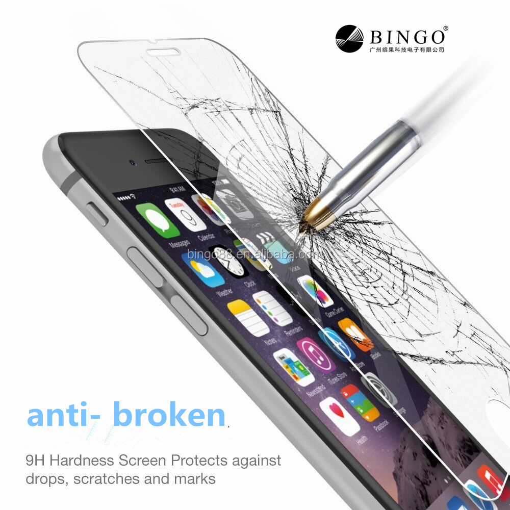 2.5D edge anti explosion HD clear 2.5D edges screen protector for iphone5s 6s