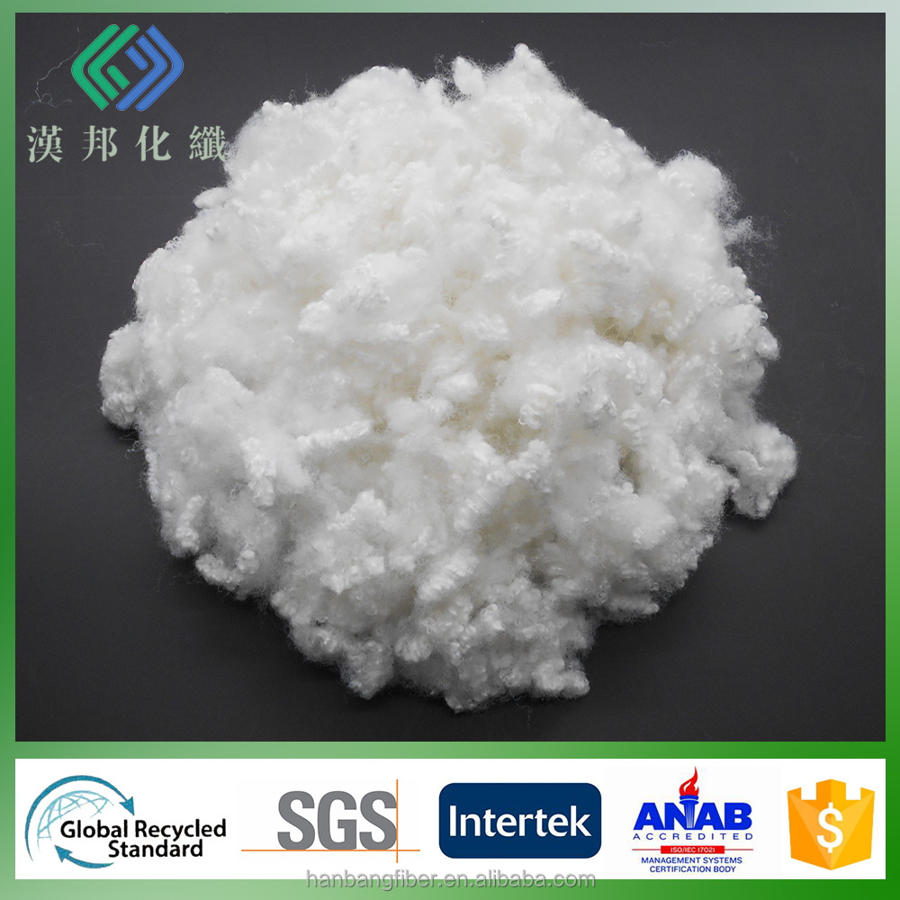 7D/64 recycled psf hollow conjugated polyester staple fibre for filling and padding