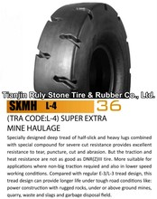 Used truck tires L-4 14.00-24 for loaders stock tire