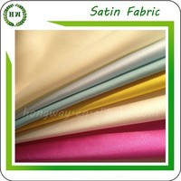 Wholesale 100 heavy bridal polyester fabric for wedding dress/ fashion dress, 2015 cheap polyester satin fabric
