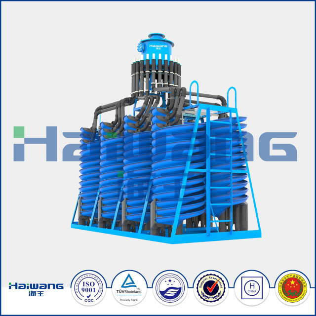 Fiber Glass Spiral Chute Separator In Placer Ilmenite Processing Plant