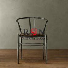 Antique Wrought Iron Frame Restaurant Dinning Chair/Iron Table Chair