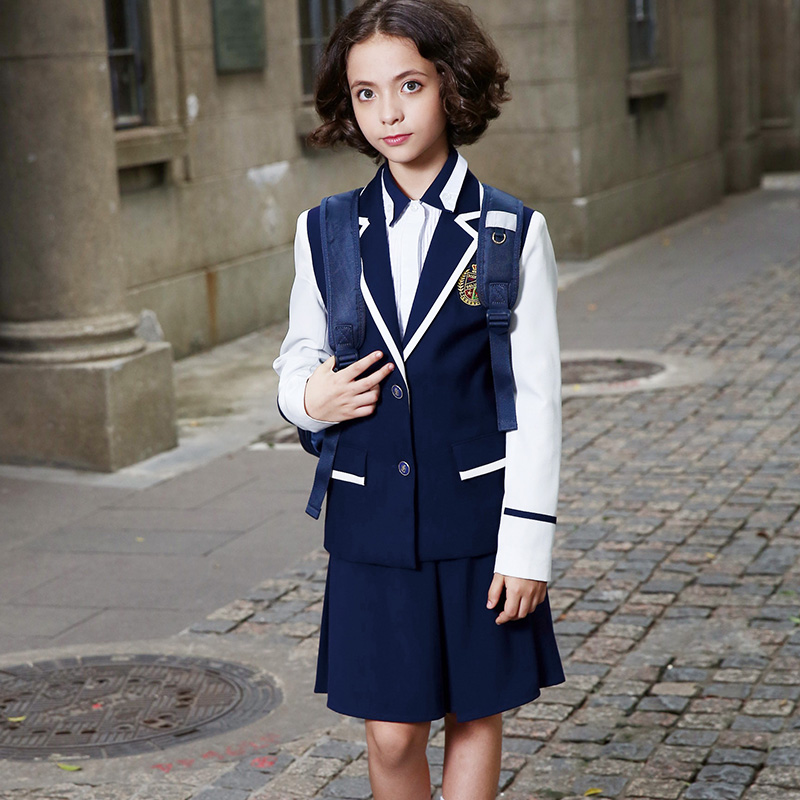 Spring and Autumn School Uniform Unisex Blazer Set for Kindergarten and Primary School Boys and Girls