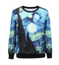 Woman Canvas Printing Seamless T-shirts Ladies Long Sleeves O-Neck Nylon/Polyester Tops