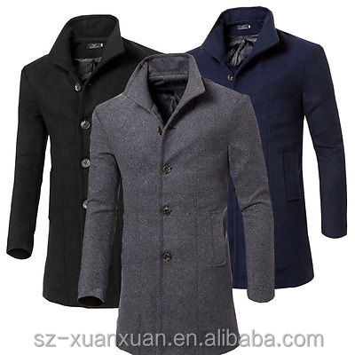 Customized newest winter wool coat men's jacket top dress coat